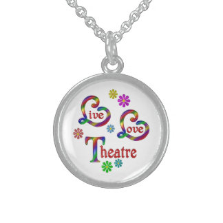 Live Love Theatre Sterling Silver Necklace