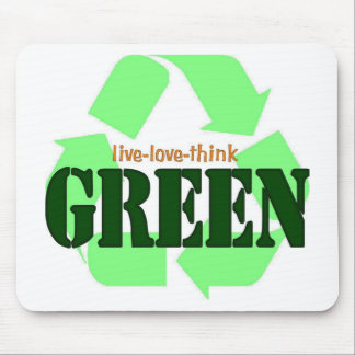 Live-Love-Think GREEN Mouse Pad