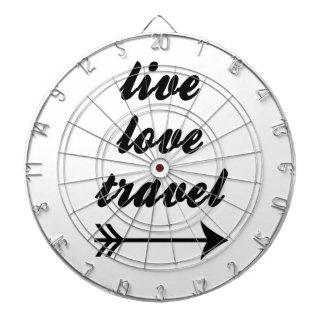 Live Love Travel Dartboard