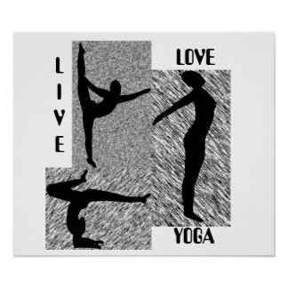 Live Love Yoga Poster