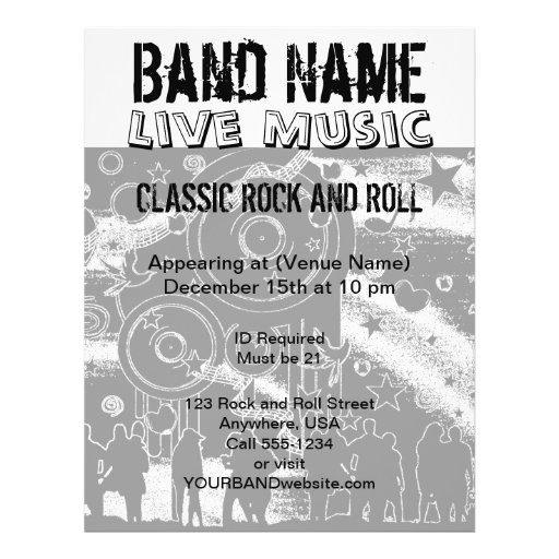 Live Music Concert Party Band Flyers