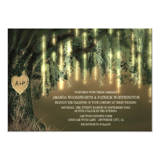 Live Oak Tree Spanish Moss Wedding Invitations