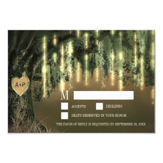 Live Oak Tree Spanish Moss Wedding RSVP Cards
