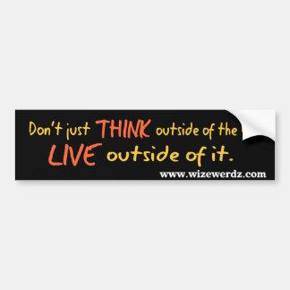 Live Outside the Box sticker Bumper Stickers