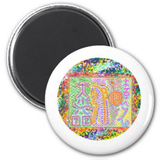 Live Reiki by Master 6 Cm Round Magnet