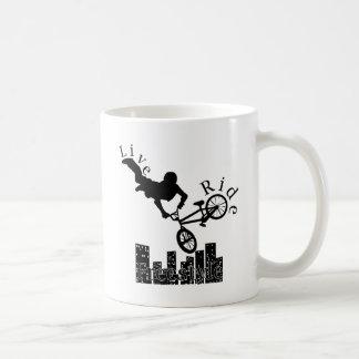Live, Ride, Freestyle Coffee Mug