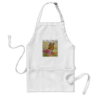 Live Simply Inspiration Butterfly Art Garden Apron