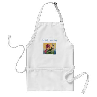 Live Simply Inspiration Dragonfly Art Apron