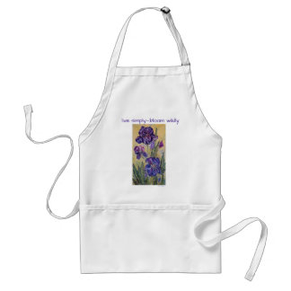 Live Simply Inspiration Iris Watercolor Art Apron