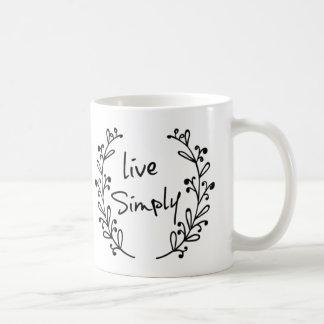 Live Simply Quote Mug