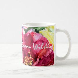 Live Simply Rose Floral Watercolor Art Coffee Mug