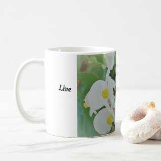 Live Simply white orchid mug