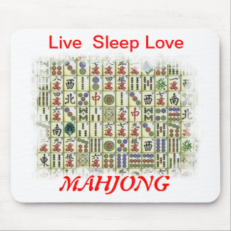 live sleep love, Mahjong Mouse Pad