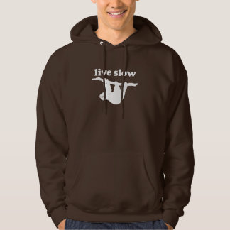 Live Slow - Cute Sloth Hooded Sweatshirt