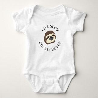 LIVE SLOW DIE WHENEVER BABY BODYSUIT