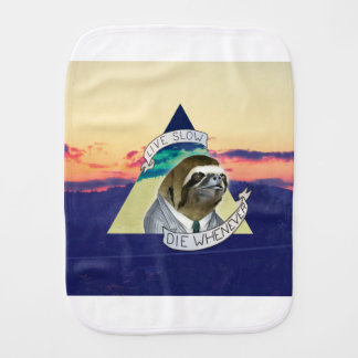 LIVE SLOW, DIE WHENEVER BURP CLOTH