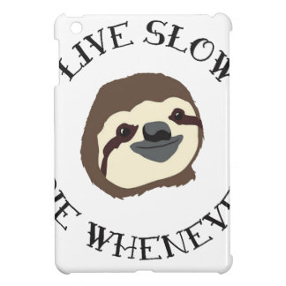LIVE SLOW DIE WHENEVER iPad MINI COVER