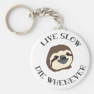 LIVE SLOW DIE WHENEVER KEY RING