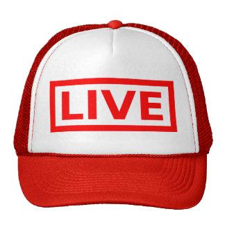 live stamp mesh hat