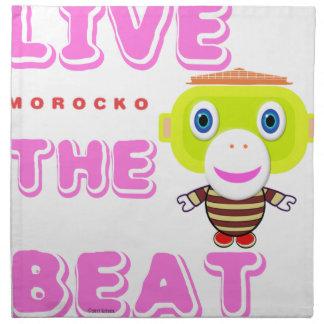 Live The Beat-Cute Monkey-Morocko Napkin