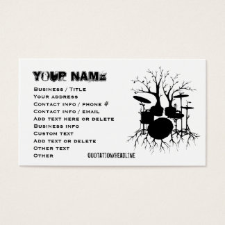 Live the Beat to the Tempo of Creation (Drum art, Business Card