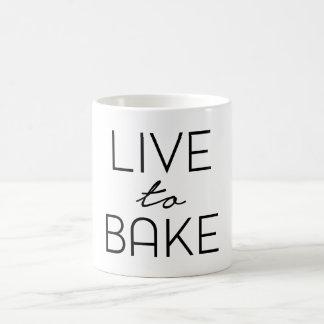 live to bake mug