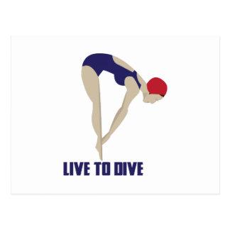 Live To Dive Postcard