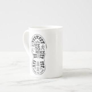 Live to Hike Bone China Mug