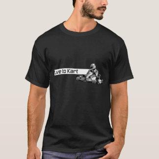 Live To Kart Black T-Shirt