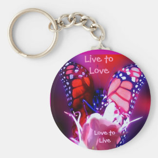 Live to Love Key Ring - Customized Basic Round Button Key Ring
