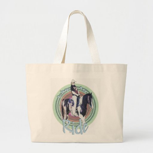 Live to Ride Canvas Bags