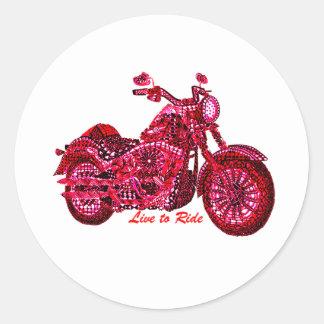 Live to Ride Classic Round Sticker