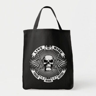 Live to Ride Forced to Work Canvas Bag