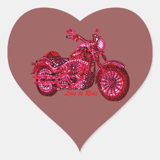 Live to Ride Heart Sticker