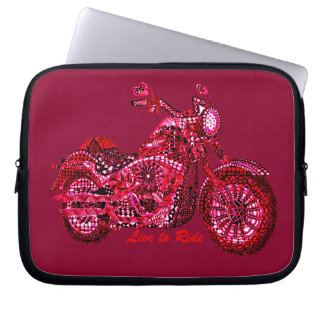 Live to Ride Laptop Sleeve