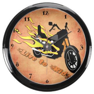 Live to Ride - Motorcycle Aqua Clock