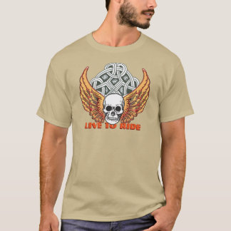 Live to Ride motorcycle design T-Shirt