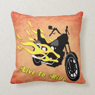 Live to Ride - Motorcycle Throw Pillow