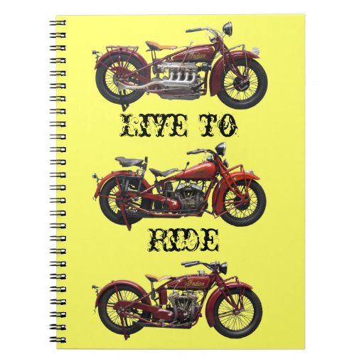 Live to Ride Notebook
