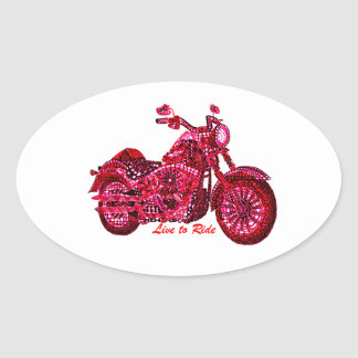 Live to Ride Oval Sticker