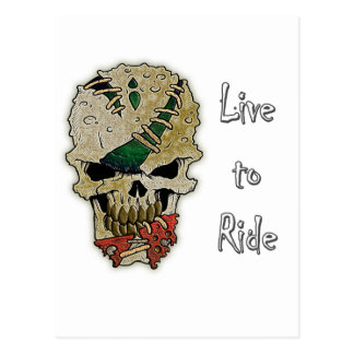 LIVE TO RIDE.png Postcard