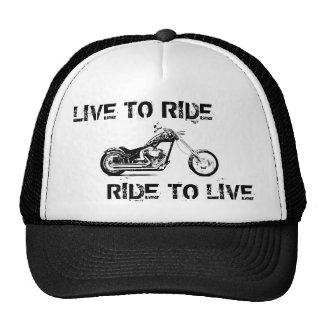 Live to ride, Ride to live Cap