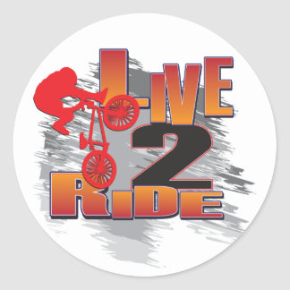 Live to Ride - Ride to Live Classic Round Sticker