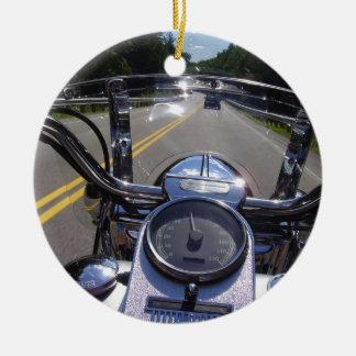 Live to Ride Round Ceramic Decoration