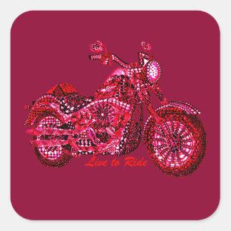 Live to Ride Square Sticker