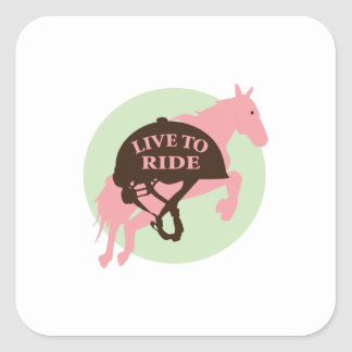 Live To Ride Square Stickers