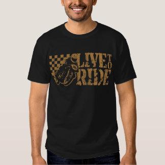 Live to Ride (v3 vintage gold) T-shirt