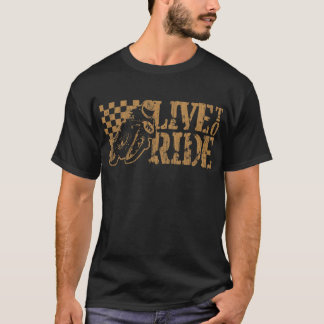 Live to Ride (v3 vintage gold) T-Shirt