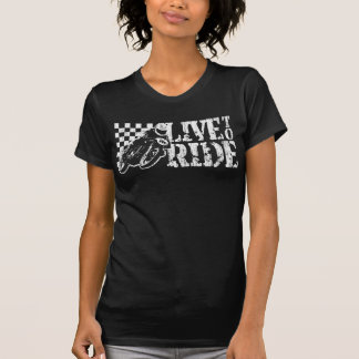 Live to Ride (v3 vintage white) T-Shirt