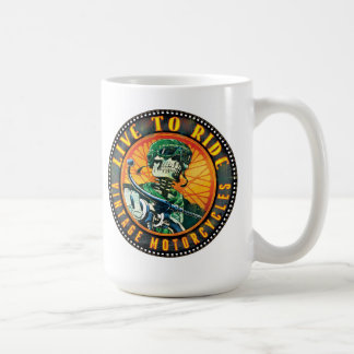 Live to ride - vintage motorcycle coffee mugs
